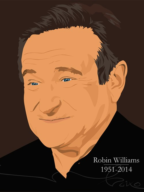illustratie robin williams baixo illustraties