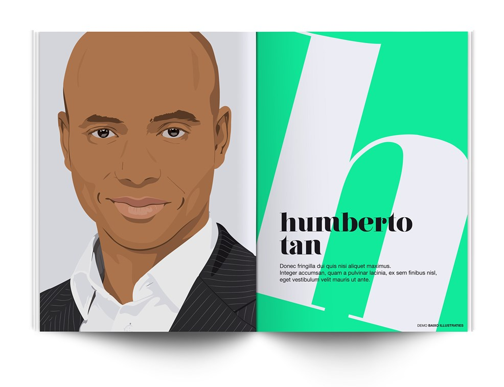 baixo illustraties voor magazine